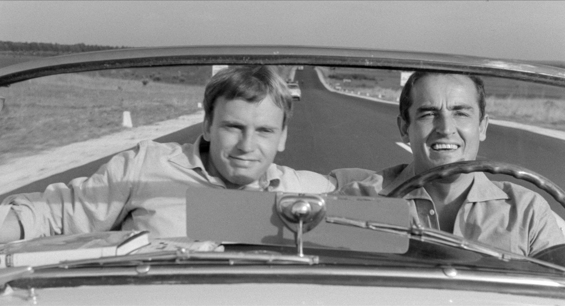 Immagine tratta dal film 'Il sorpasso' del 1962.