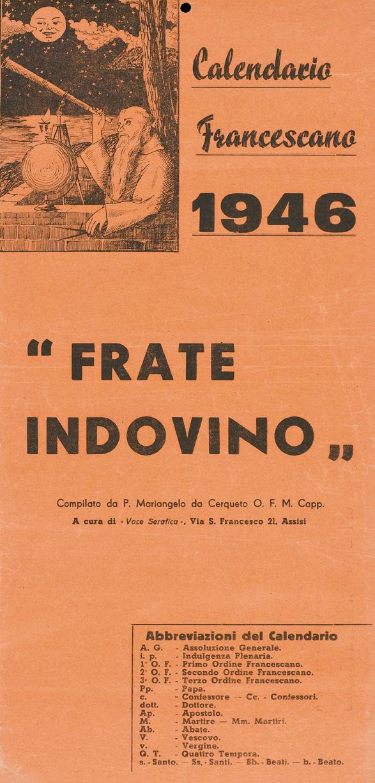 Indulgenze Plenarie Calendario.File Frate Indovino 1946 Jpg Wikipedia
