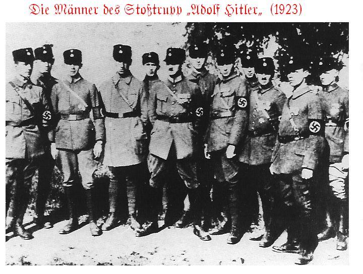 Alcuni membri dello Stosstrupp Adolf Hitler (la brigata dalla quale  nacquero le SS) 2a28c5cec3b3