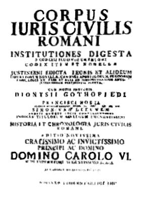Il corpus iuris civilis in una stampa del xviii secolo - Le 12 tavole romane ...