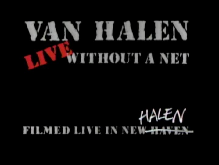 Live Without A Net Van Halen Wikipedia