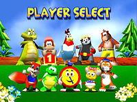 Personaggi di Diddy Kong Racing giocabili,Diddy Kong,Banjo,Tip Tup, Conker, Krunch, Bump, Pipsy, Tilver, Drumstick, T.T.