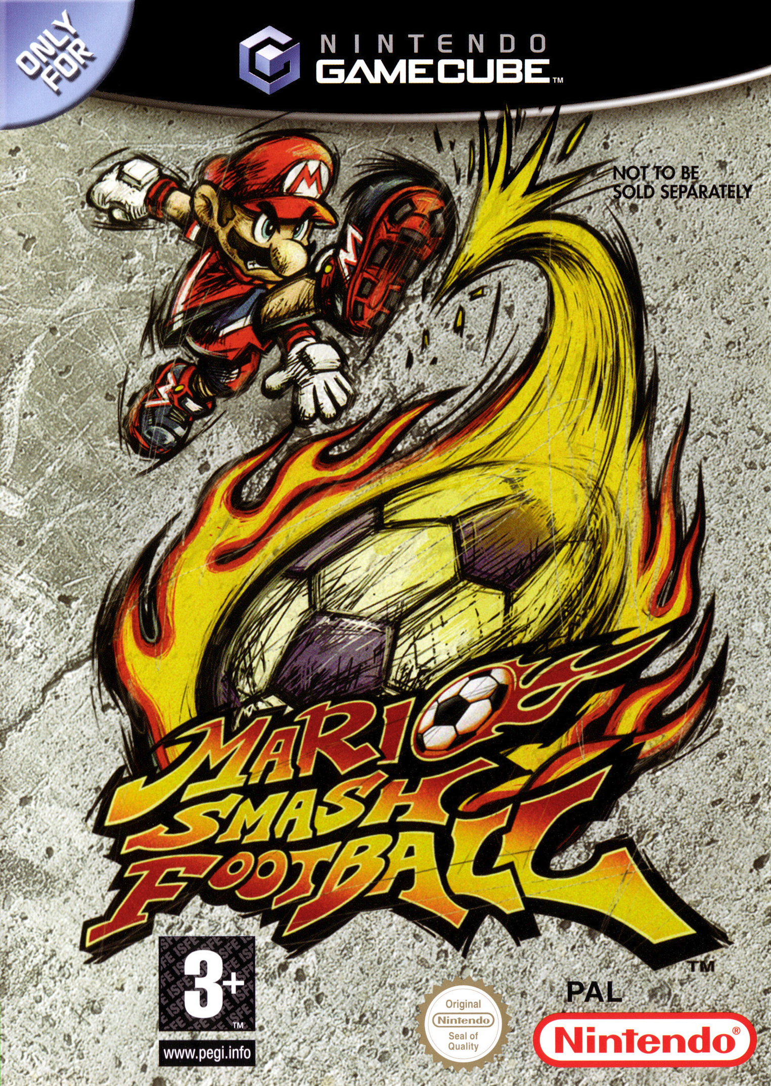 mario smash football gamecube case