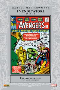 La formazione originale dei vendicatori sulla copertina del loro primo numero.