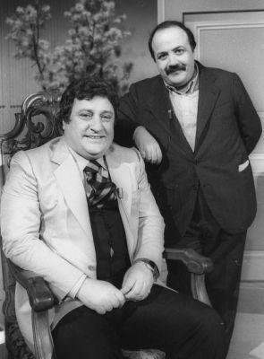 Foto: Mario Merola e Maurizio Costanzo dal programma Rai Acquario del 1979.