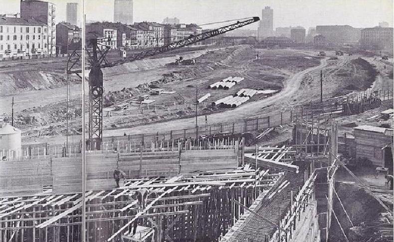File lavori di costruzione della stazione di milano porta - Stazione porta garibaldi mappa ...