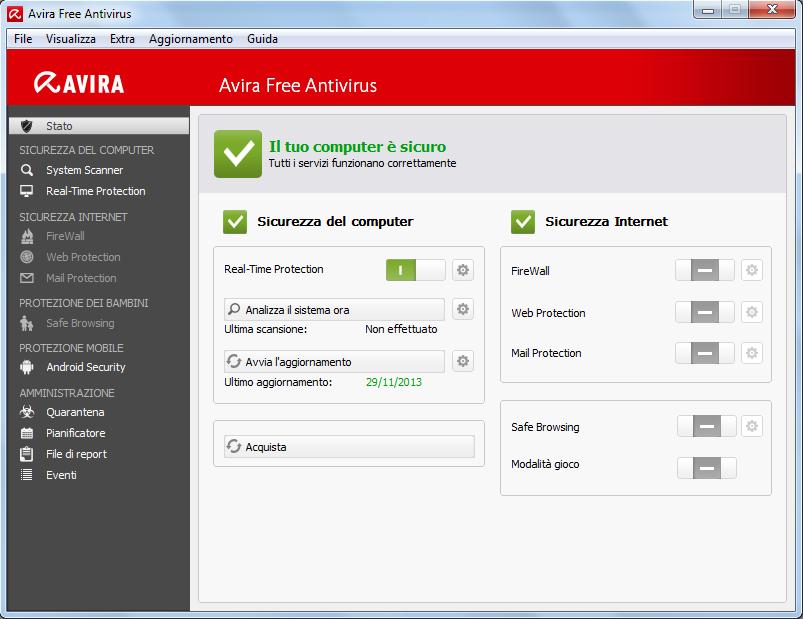 antivirus avira versione italiano gratis
