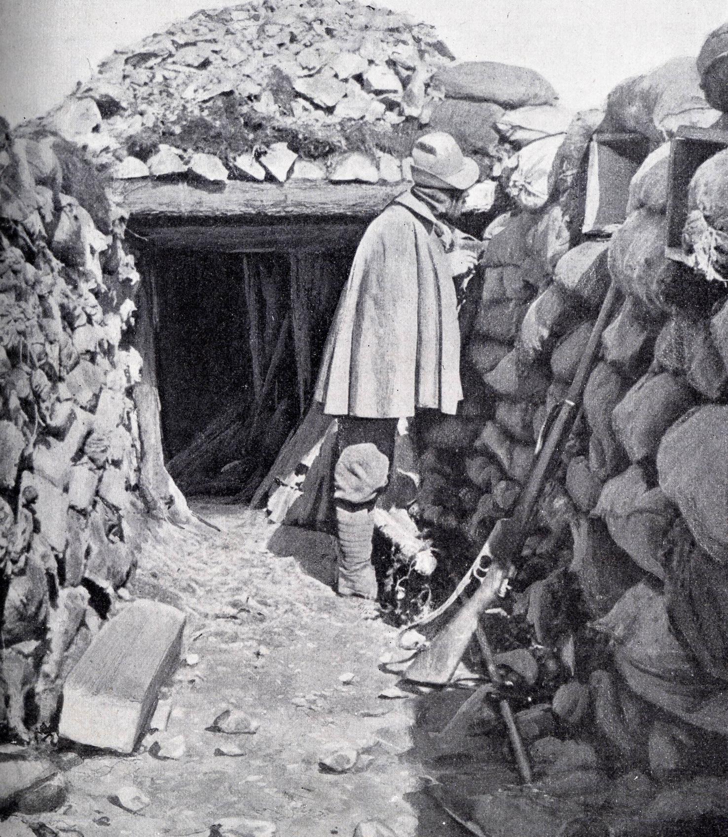 Trincea italiana sulle Alpi durante la prima guerra mondiale 2531426c1f6c