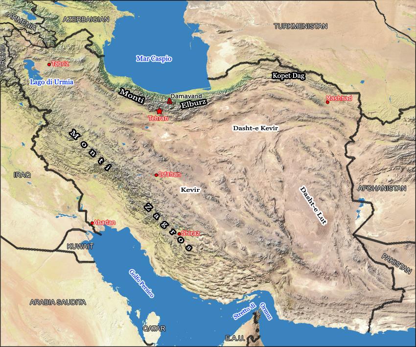 Cartina Kurdistan.Monti Zagros Wikipedia