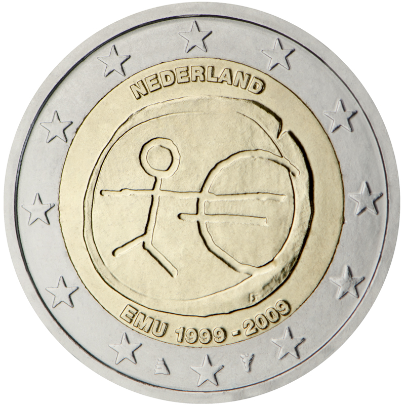 2 euro commemorativo UEM Olanda 2009.jpg