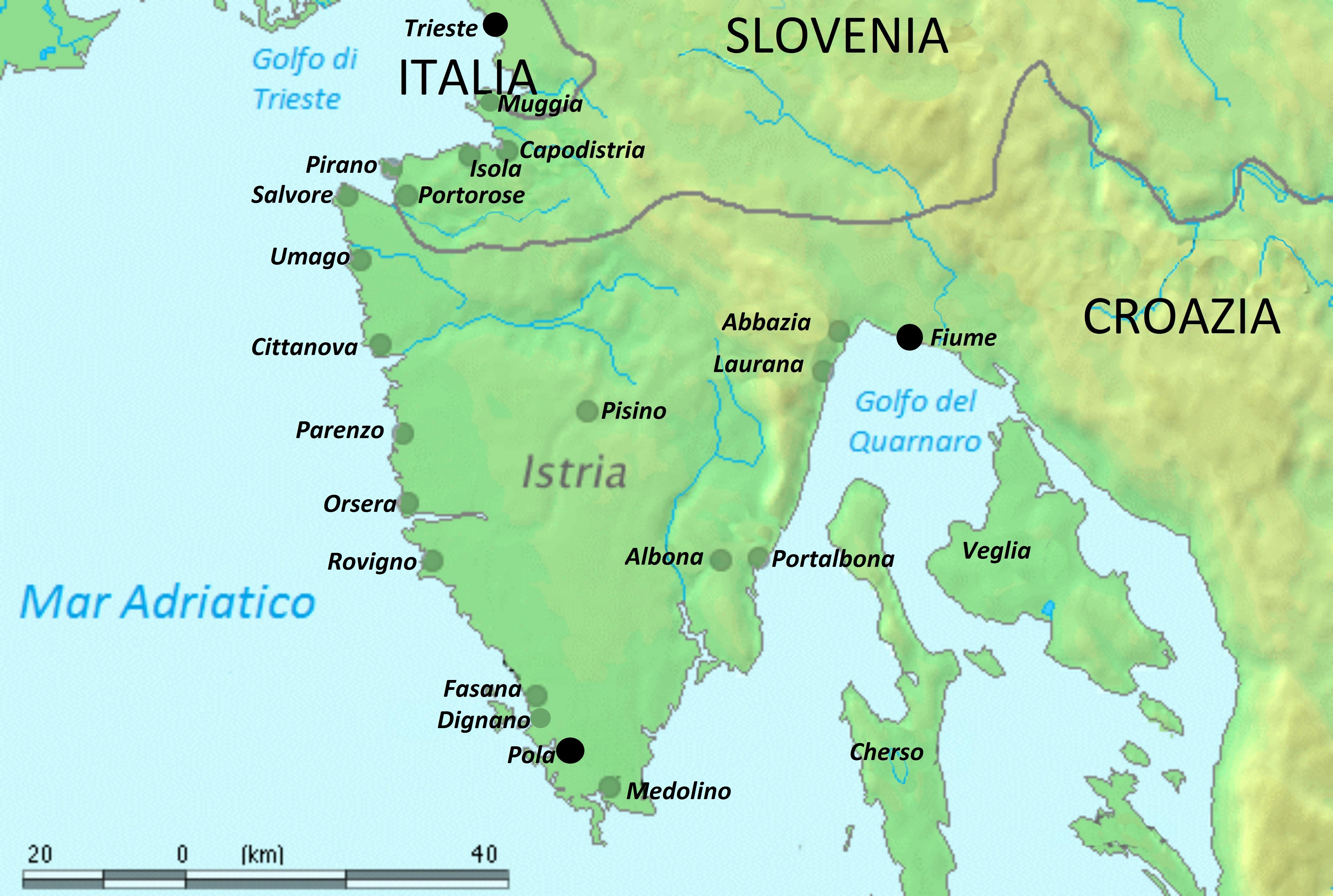 Cartina Della Croazia E Slovenia.Istria Wikipedia