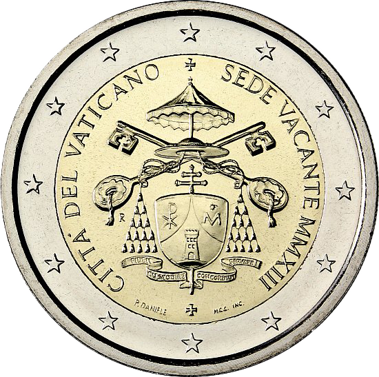 2_euro_comm._Vaticano_Sede_Vacante_2013.