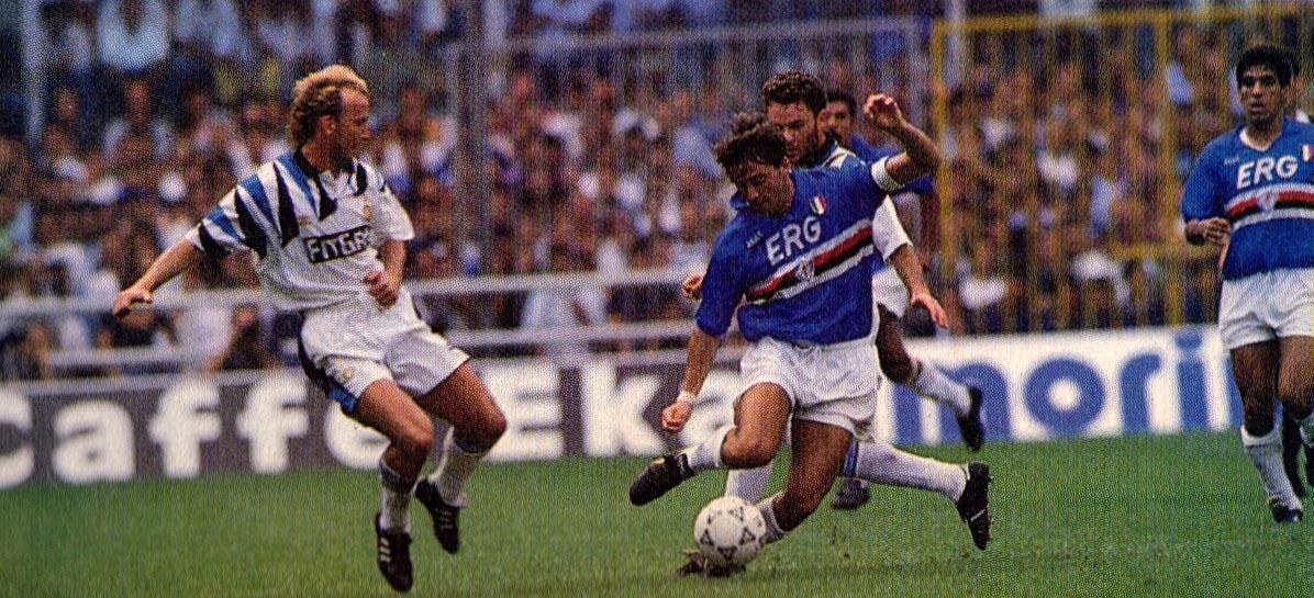 7f15fe85e80dd4 File:Serie A 1991-92 - Sampdoria vs Inter - Brehme, Mancini ...