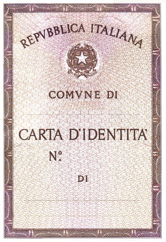Carta d 39 identit italiana cartacea wikipedia for Documenti per richiesta carta di soggiorno