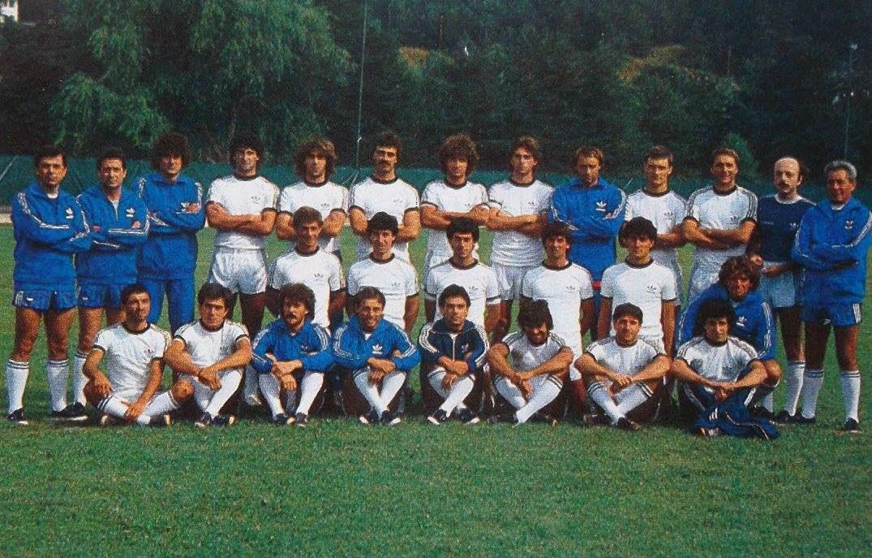 TRAINI CESENA NEW FIGURINA PANINI 1988//89-n.80