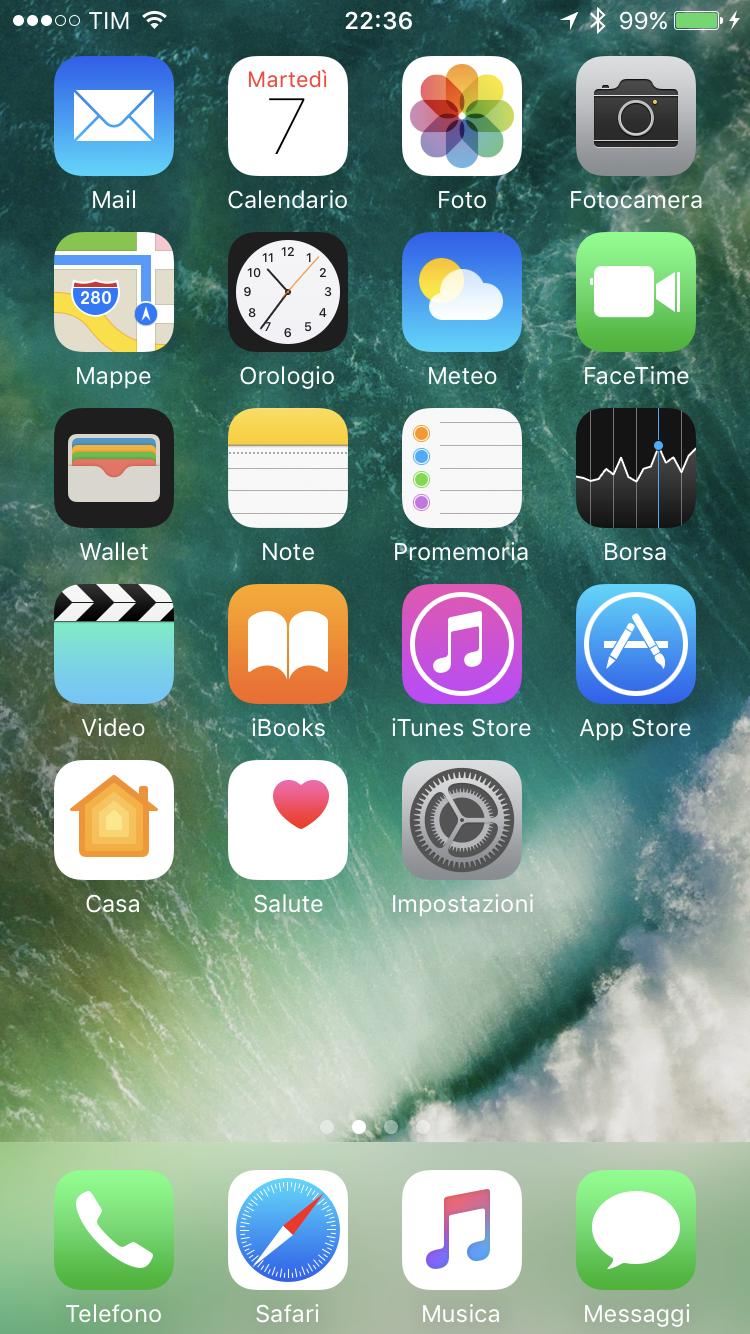 schermata home iphone ios 7
