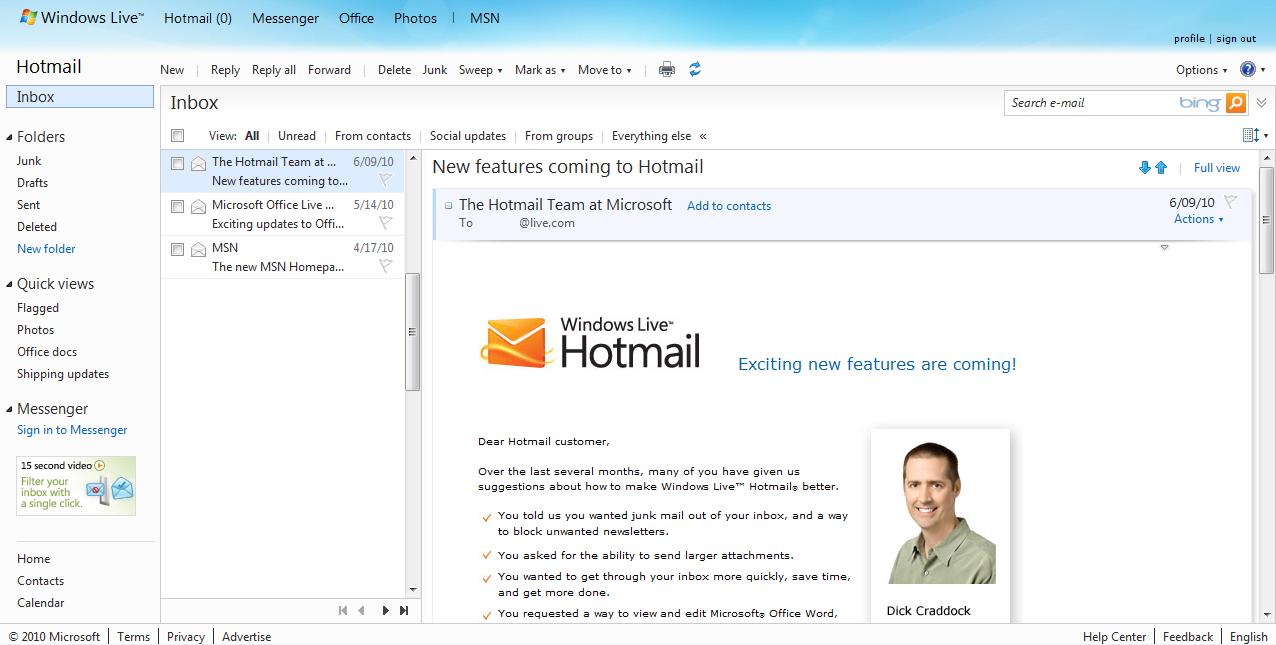 Bem Informado - Google Italia: windows live hotmail