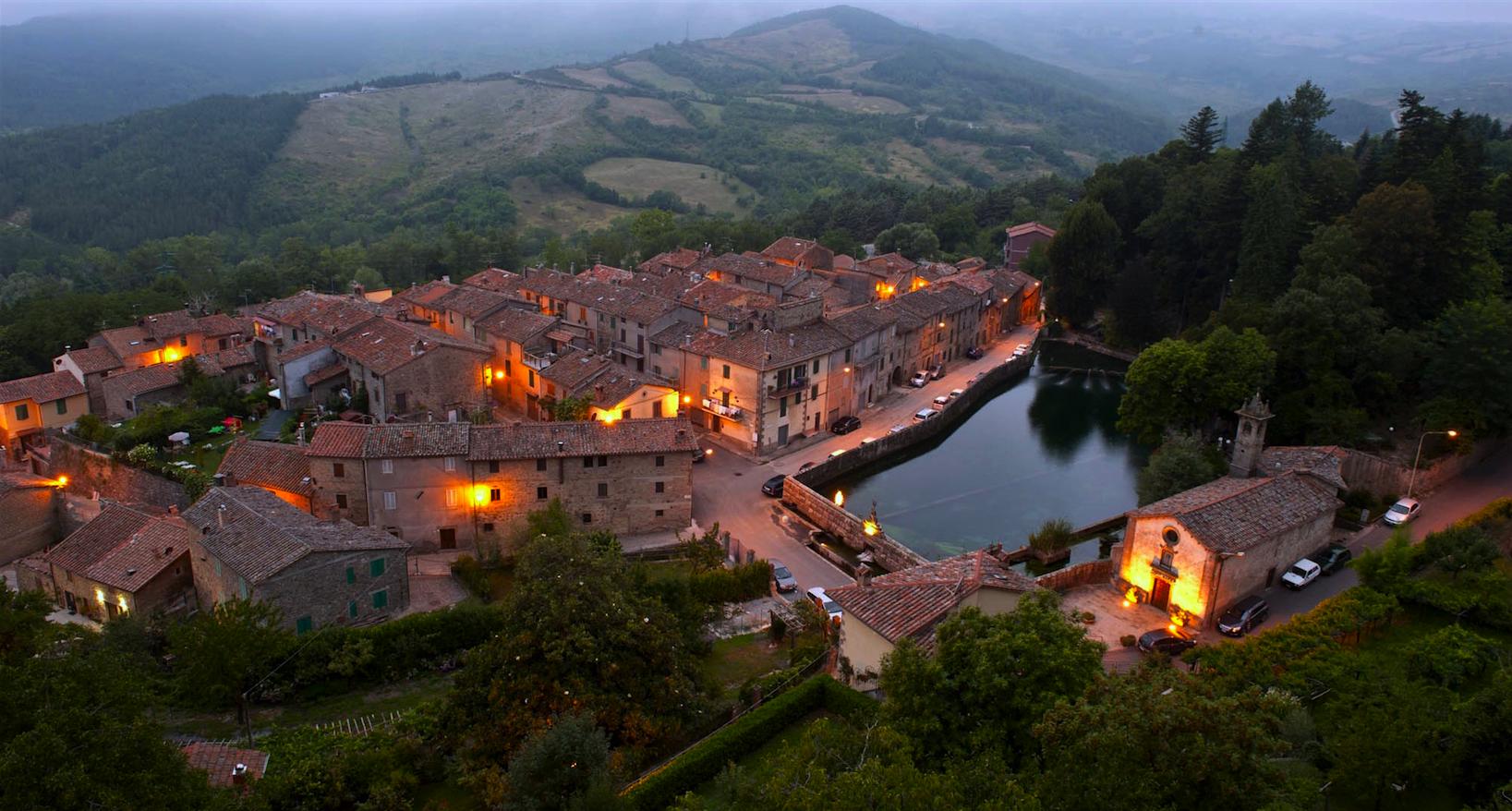 Maremma Toscana, Santa Fiora, veduta Peschiera