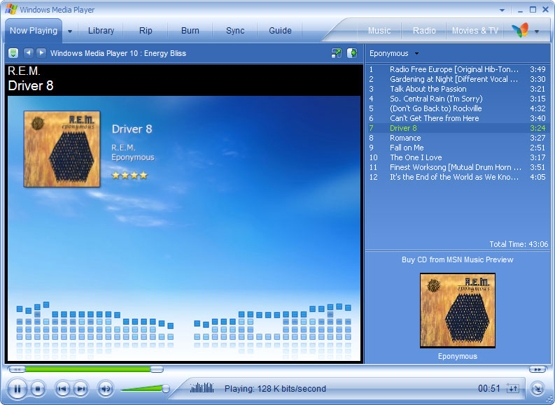 Windows Media Player 10 File menu keyboard shortcuts keys ...