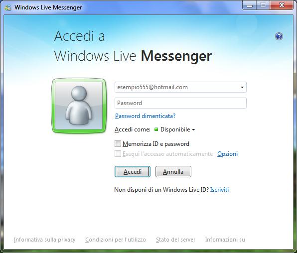 versione italiana msn messenger