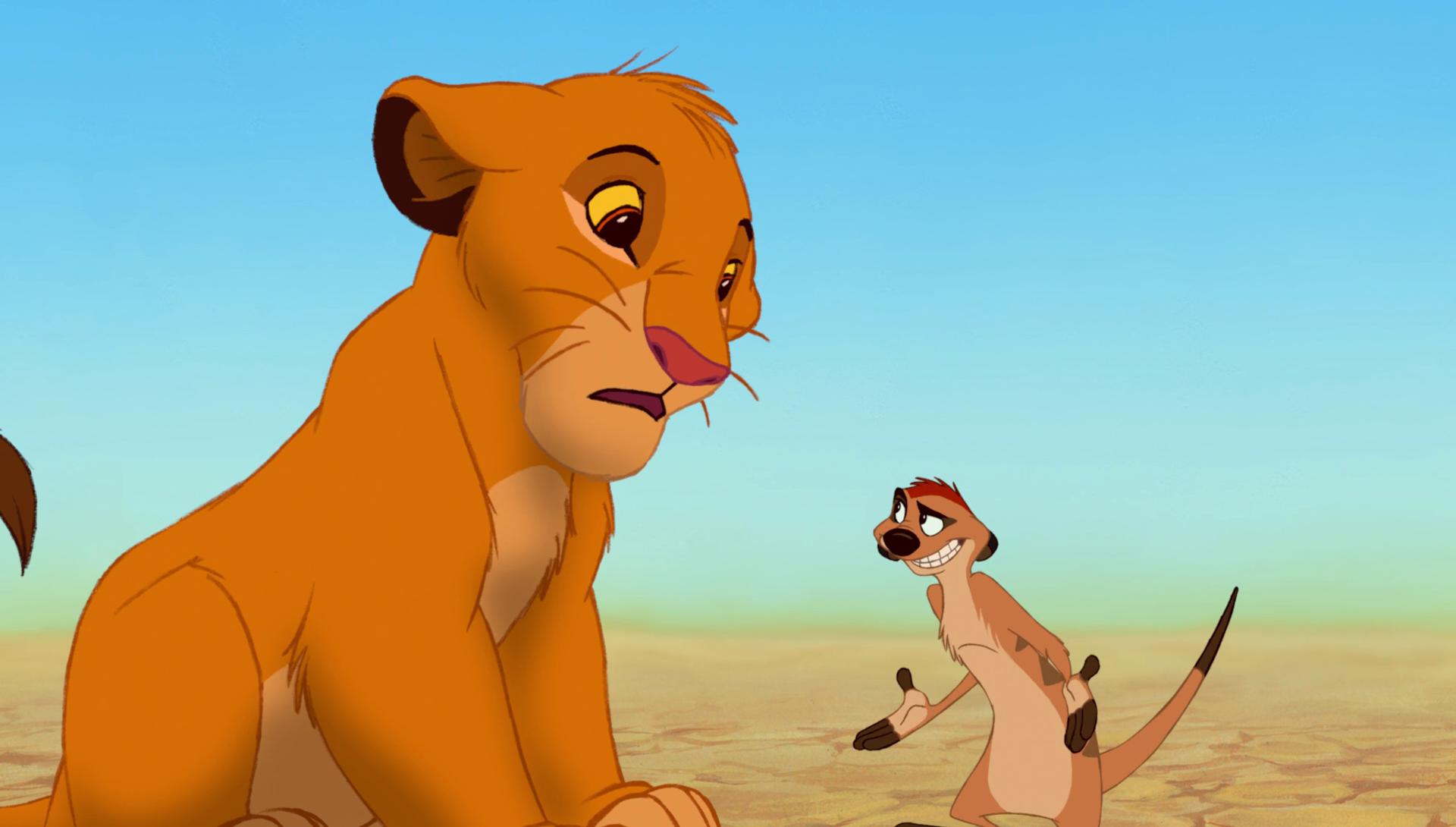 Simba da cucciolo con Timon