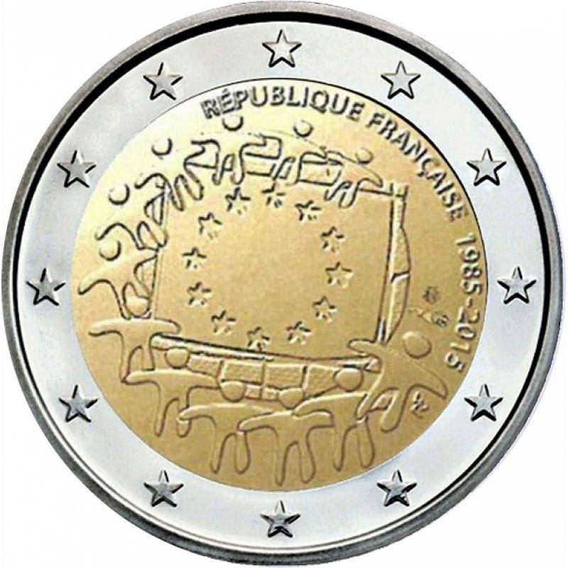fa227ba172 File:2 euro commemorativo Francia Bandiera europea.jpeg - Wikipedia