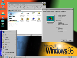 Il desktop di Windows 98