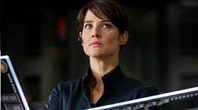 Maria Hill (Cobie Smulders) in The Avengers.