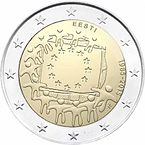 2 € commemorativo Estonia Bandiera europea 2015.jpg