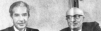 Aldo Moro e Amintore Fanfani, definiti i due