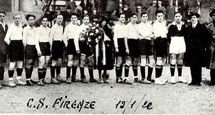 Il Club Sportivo Firenze nel 1922.