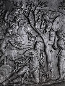 Suicidio di Decebalo raggiunto dai Romani (108)