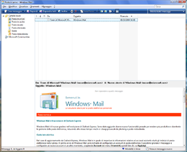 Screenshot di Windows Mail