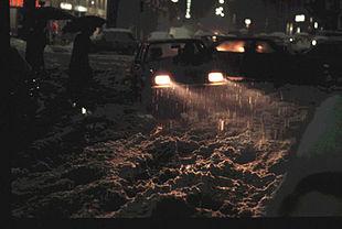 Nevicata nella notte del 15 gennaio a Milano