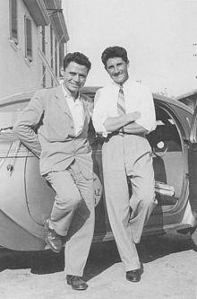 Walter Bonatti con l'amico Andrea Oggioni