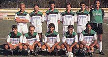 Il Sassuolo sfoggia una seconda divisa bianca nel 1988-1989