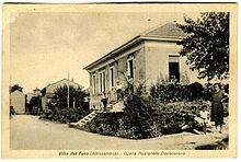 La sede della SOMS di Villa del Foro (Alessandria) durante il periodo Fascista