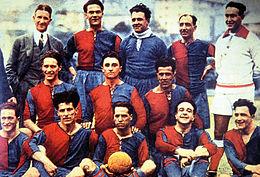 Una formazione del Genoa che colse, nel 1924, il suo nono e ultimo scudetto