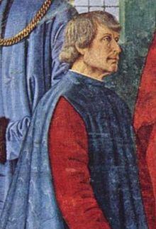 Bartolomeo Sacchi, in un particolare dell'affresco