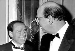 Silvio Berlusconi e Bettino Craxi in una foto del 1984