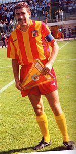 Palanca nella sua ultima stagione tra i professionisti, nel 1990.