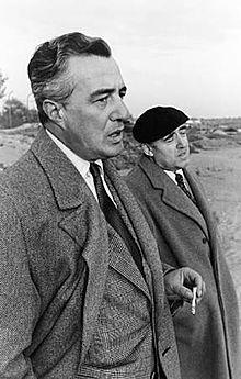 Vittorio De Sica con Cesare Zavattini