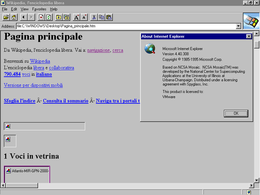 Screenshot di Internet Explorer 1.0 su Windows 95