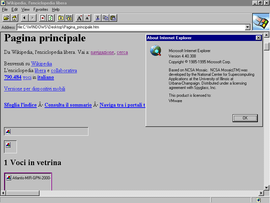 Screenshot di Internet Explorer 1