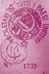 Tessera del Movimento Comunista d'Italia