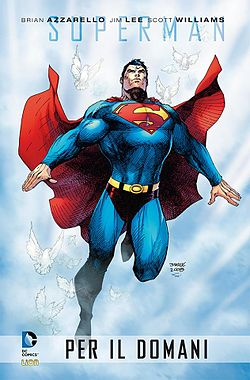Superman, disegnato da Jim Lee