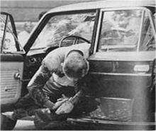 Il corpo del giudice Occorsio dopo l'attentato.