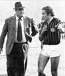 Nereo Rocco e Luciano Chiarugi nel 1972-1973