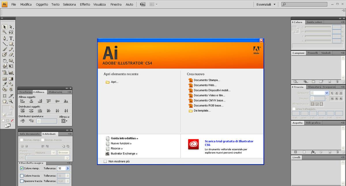 File:Adobe Illustrator CS4 Italian screenshot.jpg - Wikipedia