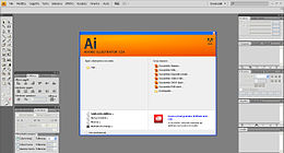Screenshot di Illustrator CS4